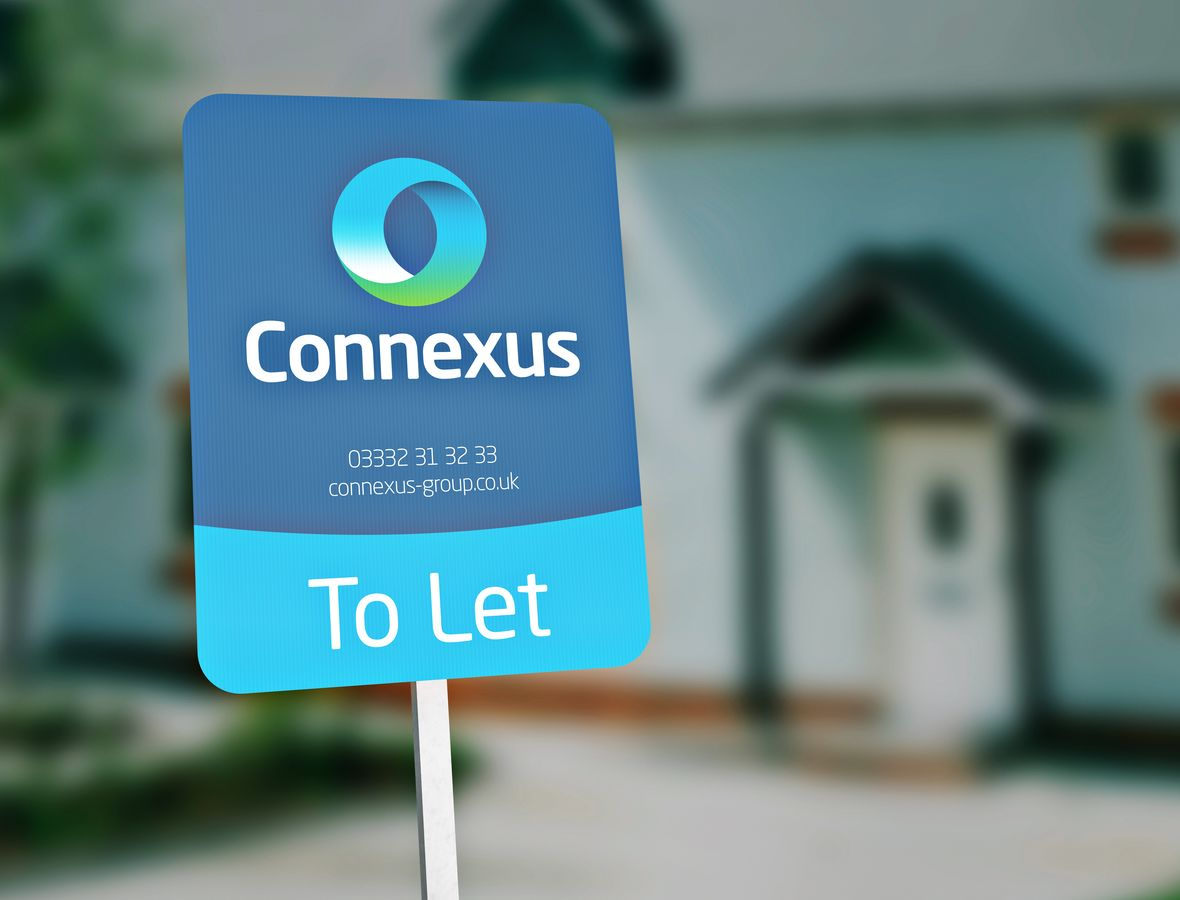 Connexus To Let sign