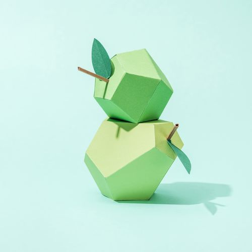 pears made from paper