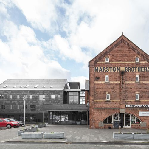 Marstons Hub and Grain Loft extension, in Ludlow, Shropshire.